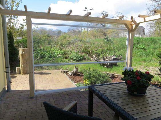 Wetterschutzrollo, windschutz Terrasse carport