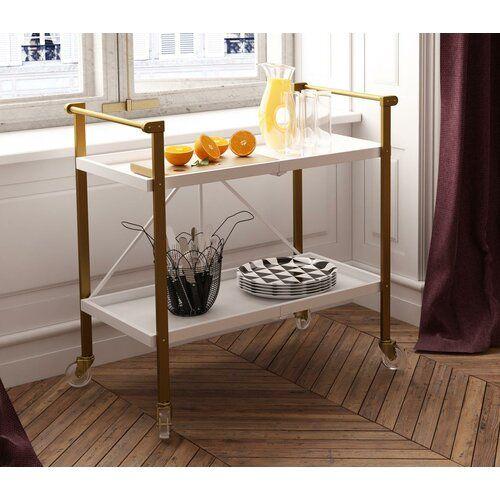 Trevia Folding Bar Cart Folding Bar Cart Serving Cart Bar Cart