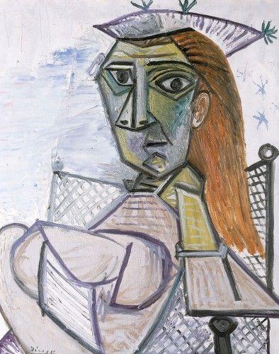 Picasso - Femme assise dans un fauteuil