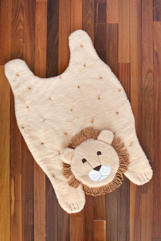 Haga un animal acolchada jugar Mat- instrucciones paso a paso y fotos