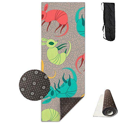 Kiot156 Rainbow Colorful Armadillo Yoga Mat Cute Yoga Towel