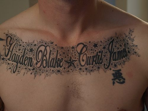 Name Tattoos On Chest