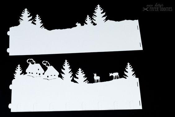 Windlichter - Bastelbogen Windlicht »Bergdorf« - ein Designerstück von misskittys bei DaWanda