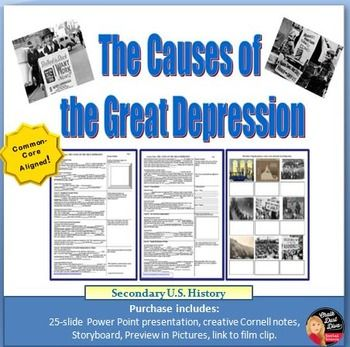 Causes Of The Great Depression Worksheet