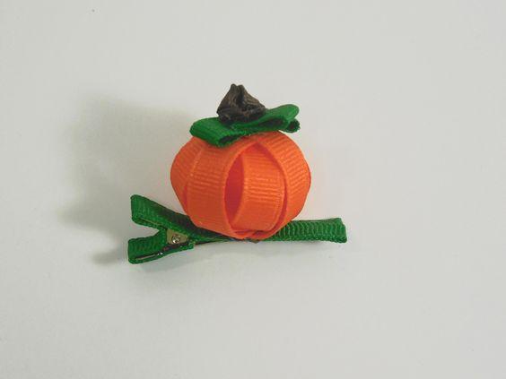 How to Make A 3D Pumpkin Hair Clip (version 2)