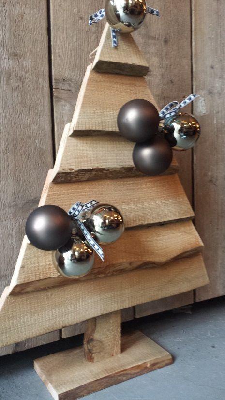 Kerstboom hout decoratie 70 cm kerstbomen pinterest - Decoratie en bois ...