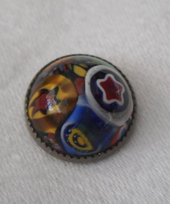 ANTIQUE Cane Glass BUTTON by abandc on Etsy