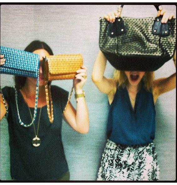 Handbag happiness with two Maza crossbody and Porsha bag! #bigbuddha #style #werkit