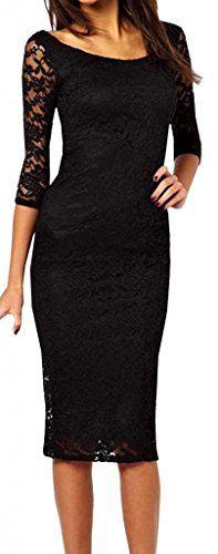 FsJoy Women's O-neck Slim Lace Knee-length Dress FsJoy http://www.amazon.com/dp/B00Q2M4NM6/ref=cm_sw_r_pi_dp_ROBpvb19T8PD4
