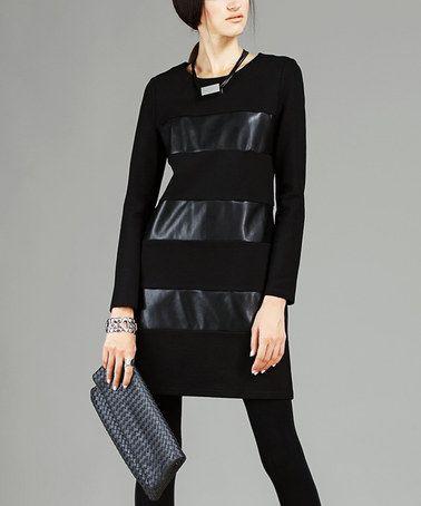 Love this Black Stripe Sheath Dress - Women on #zulily! #zulilyfinds