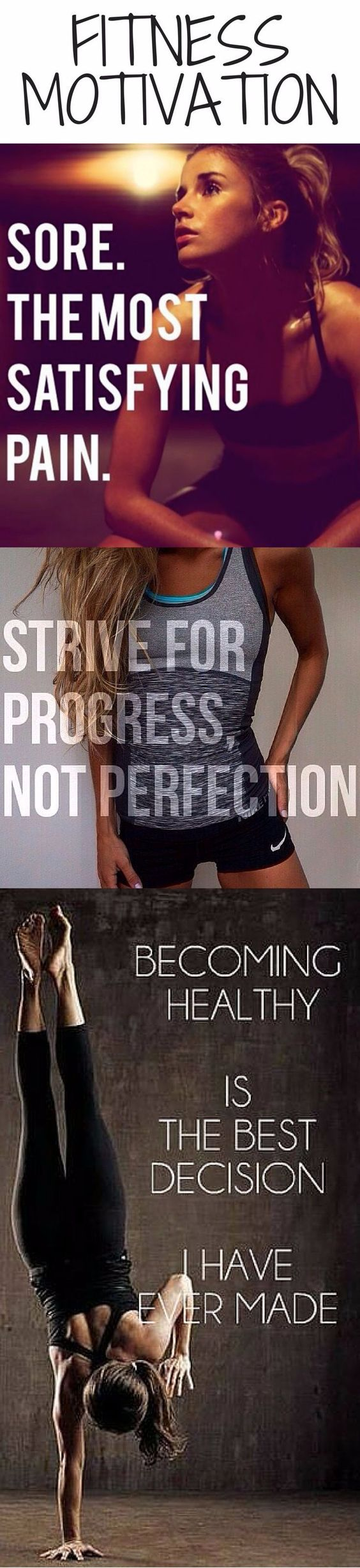 """strive for progress not perfection""..I like the sound of that!"