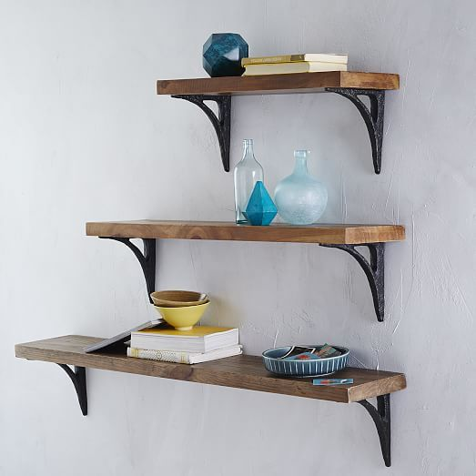 shelving brackets reclaimed wood shelves and shelving on pinterest