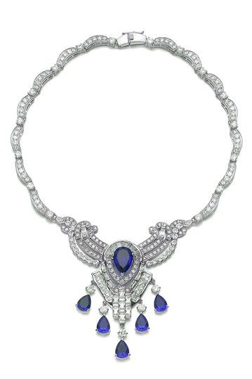Clear & Sapphire Necklace