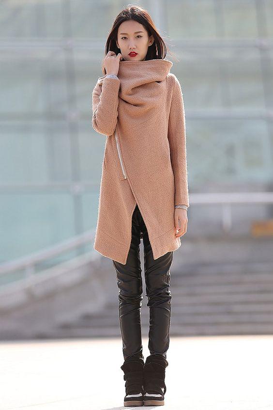 Winterjacken für Frauen brauner wolle Mantel-CF042 von YL1dress: