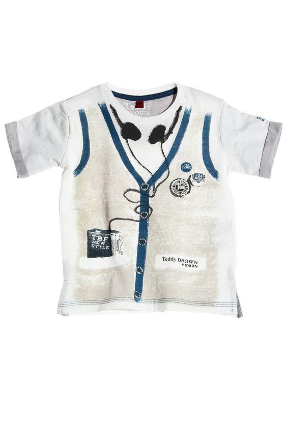 t-shirt gilet trompe l'oeil du 2 au 5 ans garã§on