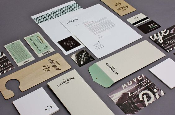 Ashton Ridge Lodge identity collateral | Designer: Kristen West Design