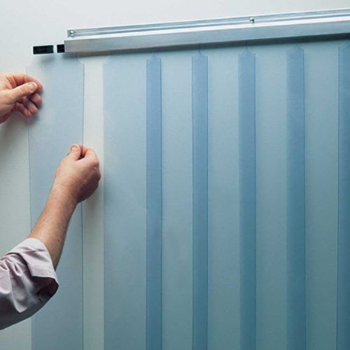 Strip Curtain Kit 38x84 Low Temp Slidein Strips For Walkin Cooler