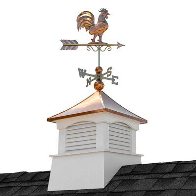 Good Directions Coventry Vinyl Cupola With Rooster Weathervane Wayfair Cupolas Copper Roof Good Directions