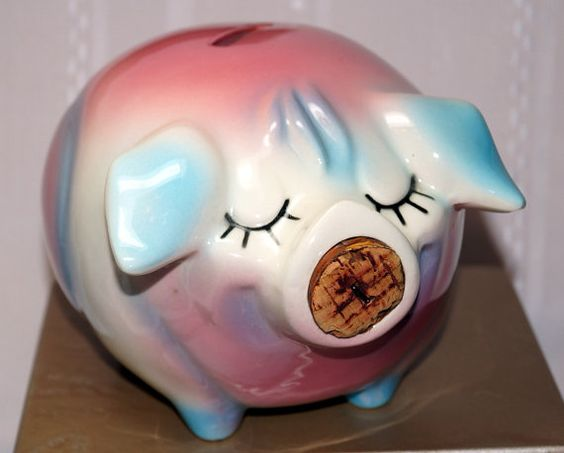 Corky Pig Vintage Hull Ceramic Piggy Bank 1950 39 S