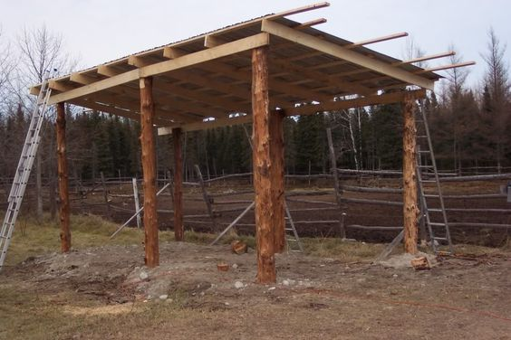 Horse lean to stalls lean to barn plans barn plans for Horse pole barn plans