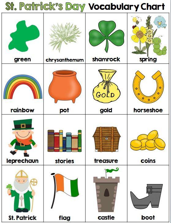 Resultado de imagen de saint patrick's day vocabulary