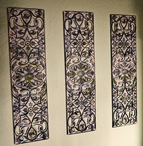 Iron Wall Decor Ideas : Diy wrought iron artwork from rubber door mat craft