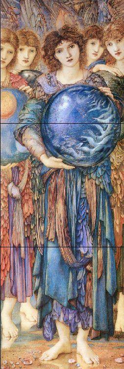 William Morris tile: Angels of Creation