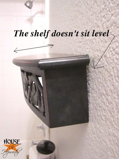 inexpensive & simple trick to level out shelves (or anything else)