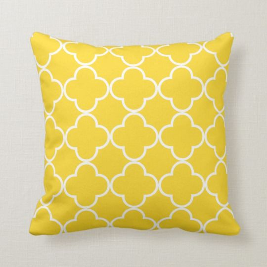 Bright Yellow Decorative Throw Pillow
