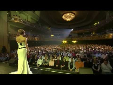 Helene Fischer. I have posted some of her vids before, but they were taken off youtube then. She talks for the first 3 min. in this one (german of course)...but I just love how she engages with her audience...and she looks absolutely beautiful in this dress.