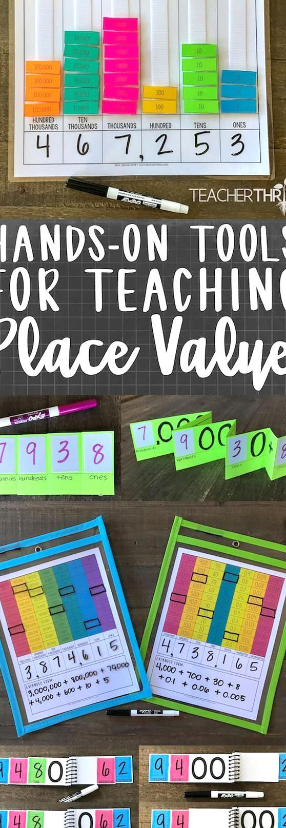 Hands On Activities For Teaching Place Value Via Gottoteach Mathlessons In 2020 Teaching Place Values Place Values Teaching [ 1615 x 558 Pixel ]