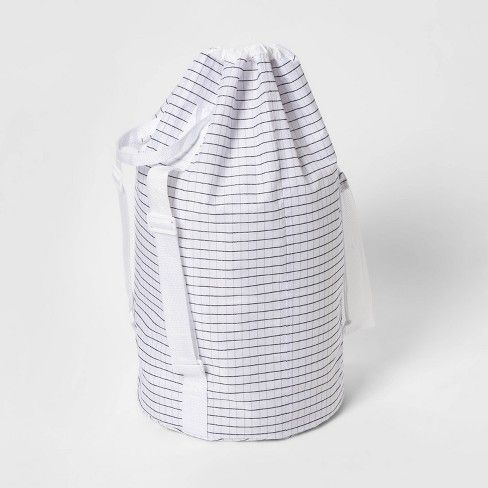 Backpack Laundry Bag Grid Pattern White Room Essentials With