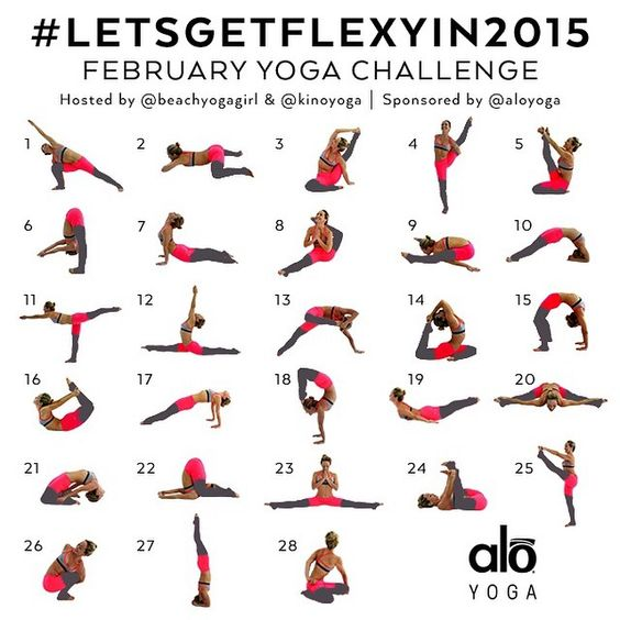 """""""Announcing the FEBRUARY YOGA CHALLENGE! #LetsGETFlexyIn2015 Sponsored by @aloyoga Hosts: @beachyogagirl and @kinoyoga  This Yoga Challenge is for ALL…"""""""