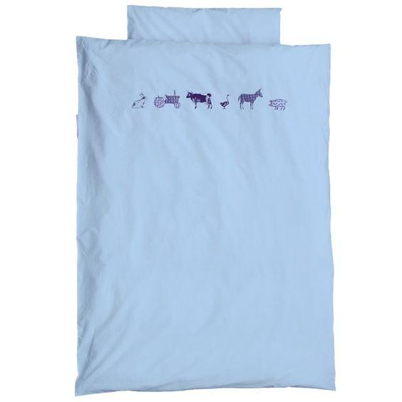- Material: Baumwolle - Maße: 100 x 135 cm - Bauenhoftiere Abbildung - für Kinderbett - Maschinenwäsche: bei 40 °C