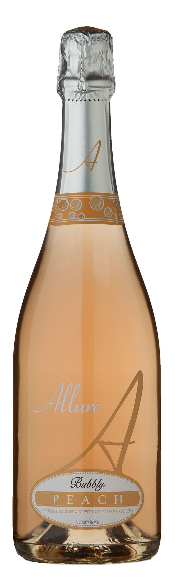grapestobottles.com posting: The scrumptious flavor of a peach bursting with ripeness combined with the floral and fruity essences of our Symphony wine  is summer captured in a glass. The palate is further roused by a frenzy of lively bubbles and enticing sweetness