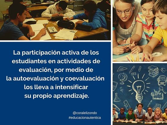 """Coral Elizondo on Twitter: """"#eduhora4 Permite fomentar la evaluación autentica, con la participación activa del alumnado https://t.co/Hz9ITIcW0W"""""""