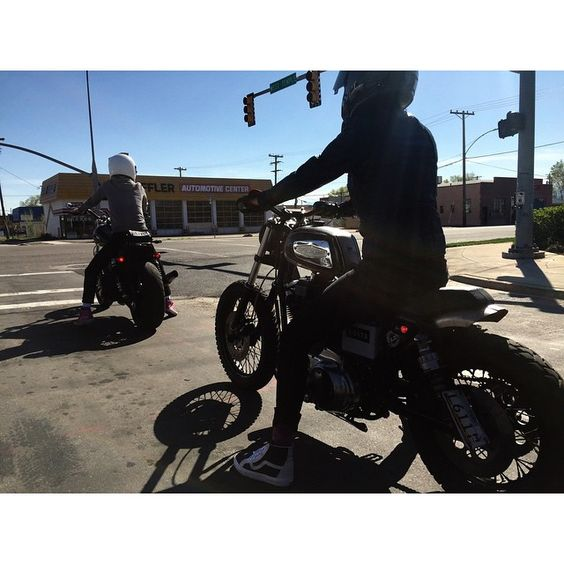 """""""Straight Bangs MC"""" was out in full effect today. Good job ladies! #BoltsAction #Sportster #Dyna #SLC"""
