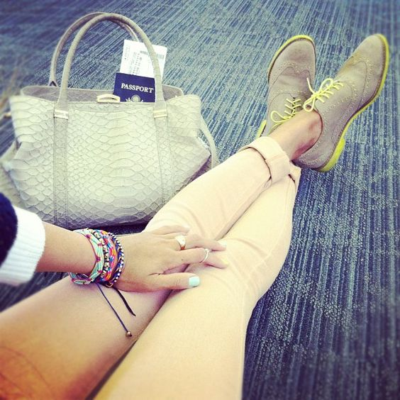 nude + neon shoes