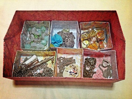 {boxes within a box for sorting jewelry}