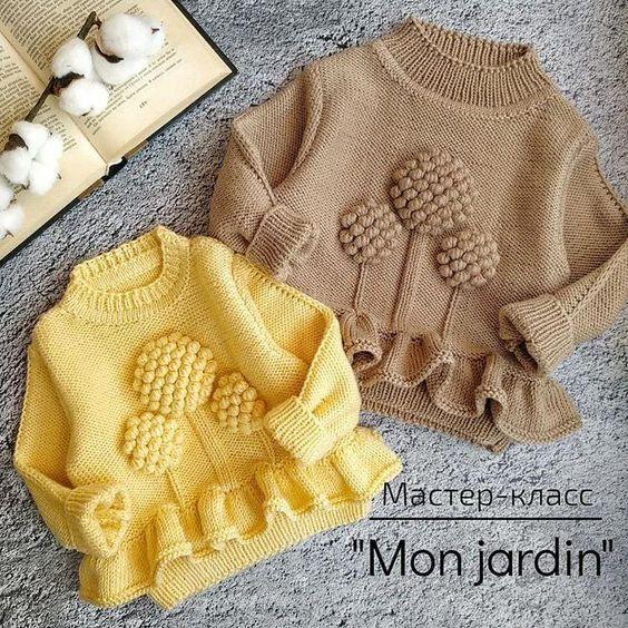 Необычный джемпер от @natasha.e_knits 😍😍😍 хотите связать такой же? Вас ждёт отличный мастер клас