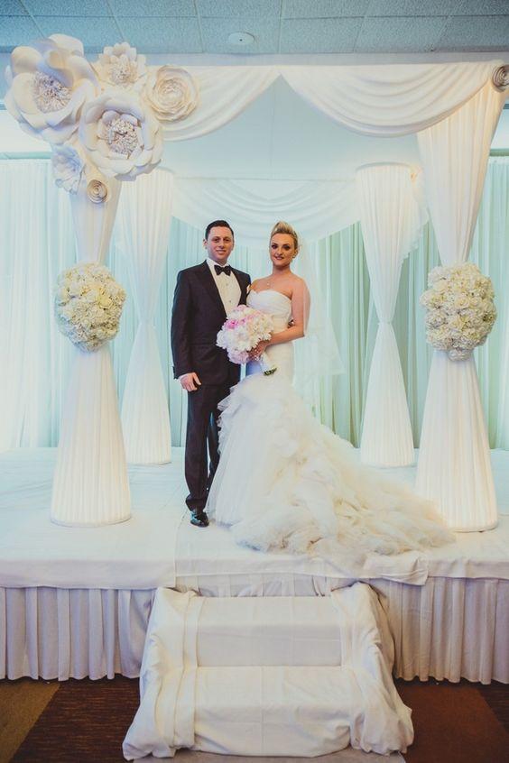 Wedding And More Chuppah Jewish Weddings Paper Flowers Modern Flower