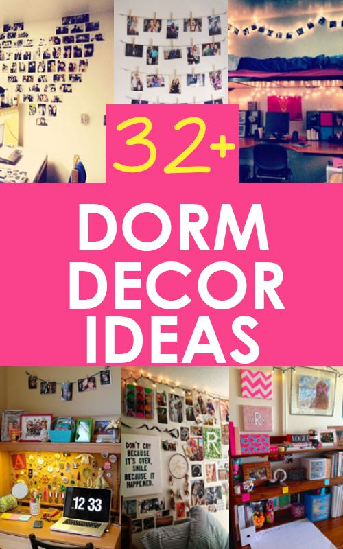 Dorm Decorating Ideas And Dorm Room Organization On Pinterest