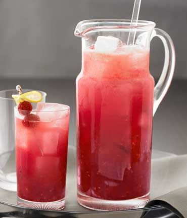 Raspberry lemonade punch non alcoholic for Pitcher drink recipes for parties