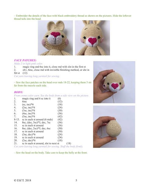 Amigurumi - Raposa - Receita Grátis | Modelo de bebê de crochê ... | 640x495