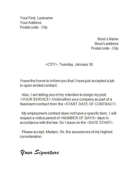 resignation_letter_5 Resignation Letter Pinterest - board resignation letter
