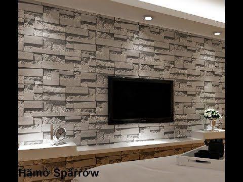 ديكورات الطوب فى الحوائط احدث افكار تزيين الجدار بالاحجار Youtube Stone Wallpaper Brick Wall Wallpaper Brick Living Room