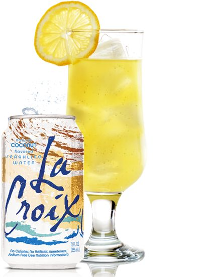 """""""coco colada recipe"""" using Lacroix Water. For the adult version, just add a little something from Captain Jack Sparrow's flask! #Lacroix #sparklingwater"""