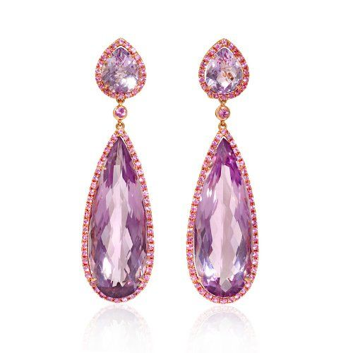 Pink Sapphire and Purple Amethyst 18k Rose Gold Dangle Earrings Firenze Jewels,http://www.amazon.com/dp/B00G2DNGUK/ref=cm_sw_r_pi_dp_kS1Ctb0F4B4GKC0G