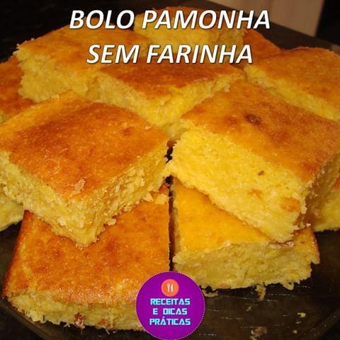 Bolo Pamonha Sem Farinha Ingredientes
