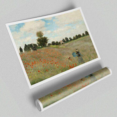 Kunstdruck Mohnblumen Von Claude Monet East Urban Home Grosse 84 1 Cm H X 118 9 Cm B In 2020 Art Graphic Art Paper Art
